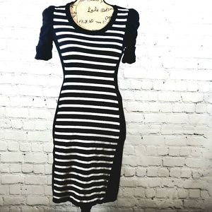 INC sweater dress black and white size small
